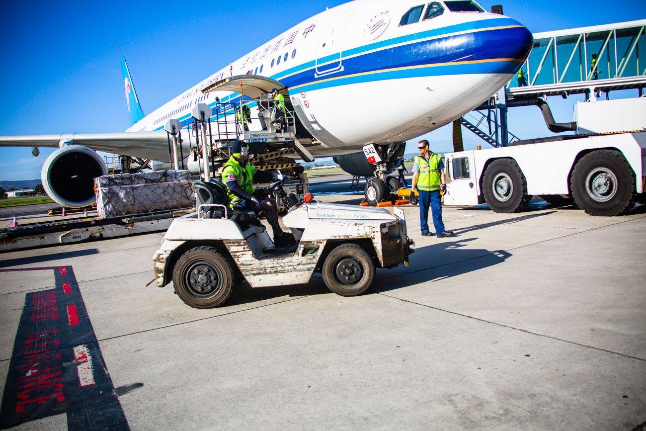 Adelaide airport cargo 8150 Duncan Grant