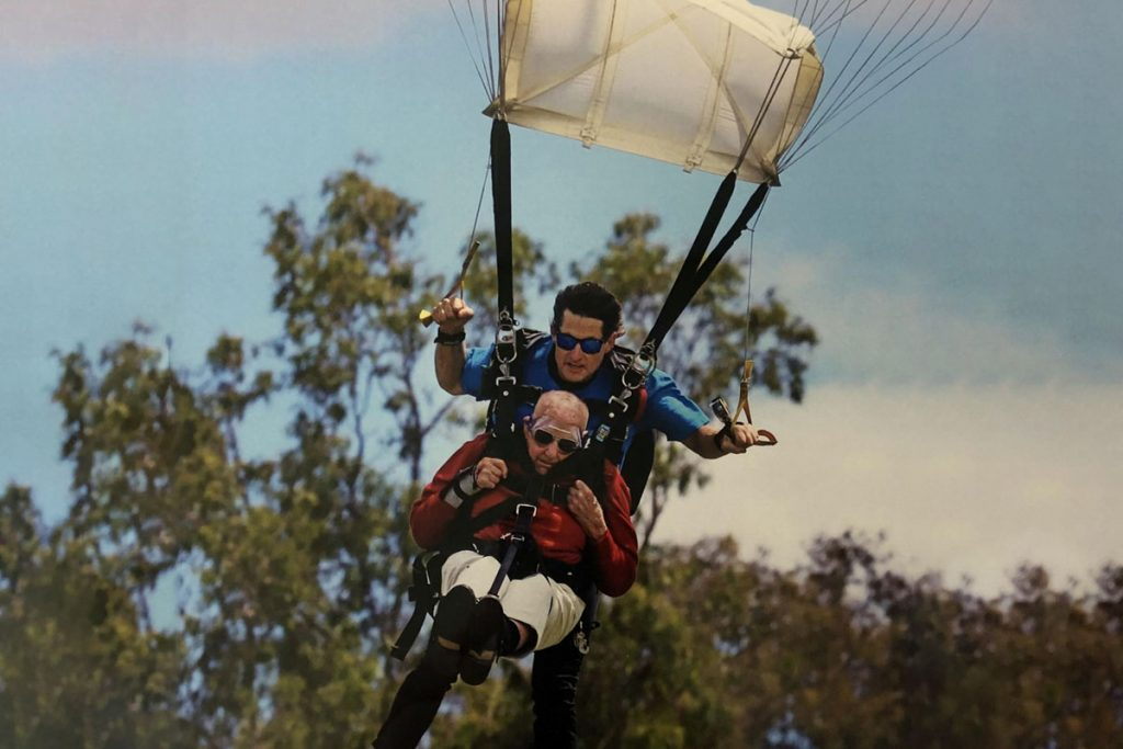 Peter Llyod 100 skydive